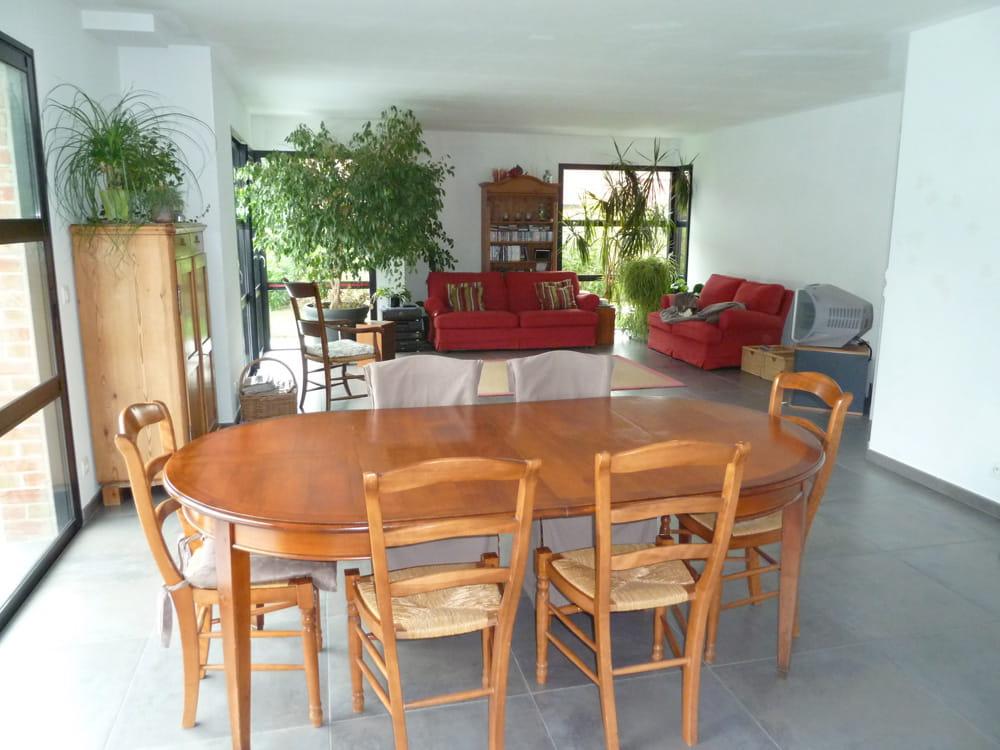 la salle manger de caroline avant le relooking d 39 un s jour dans un style atelier journal. Black Bedroom Furniture Sets. Home Design Ideas