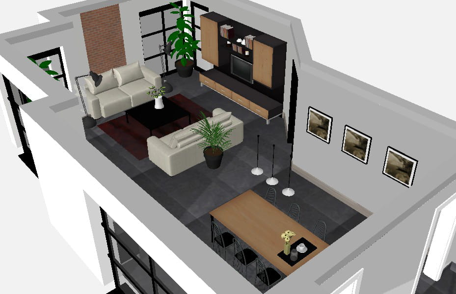 Une ambiance industrielle proposition n 2 le for Amenagement d un salon