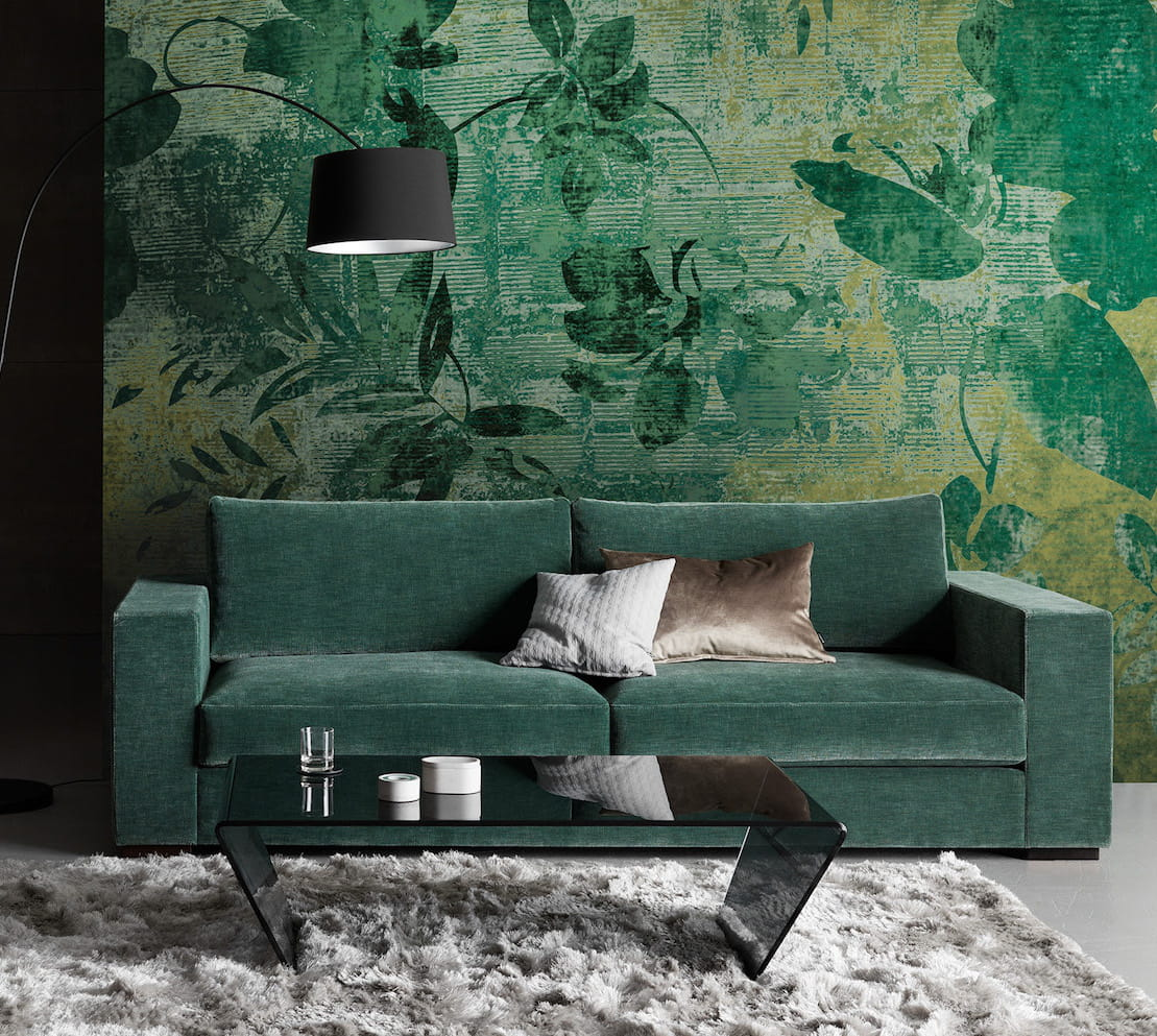le canap vert for t. Black Bedroom Furniture Sets. Home Design Ideas
