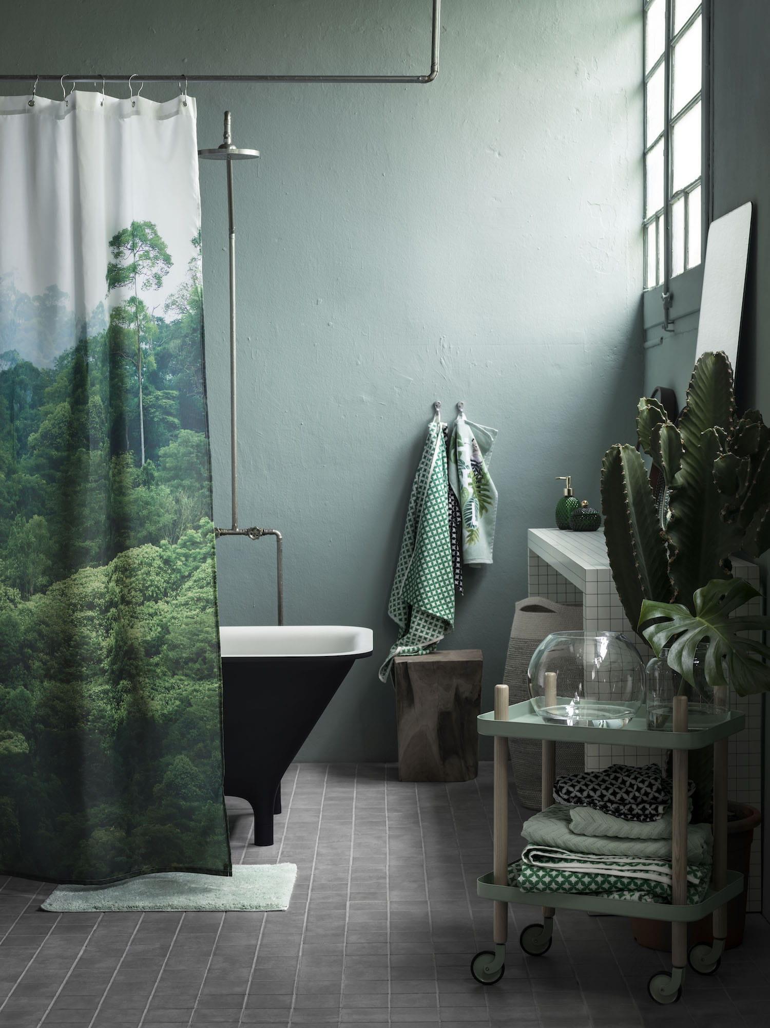 Salle de bain vert kaki for Salle de bain verte