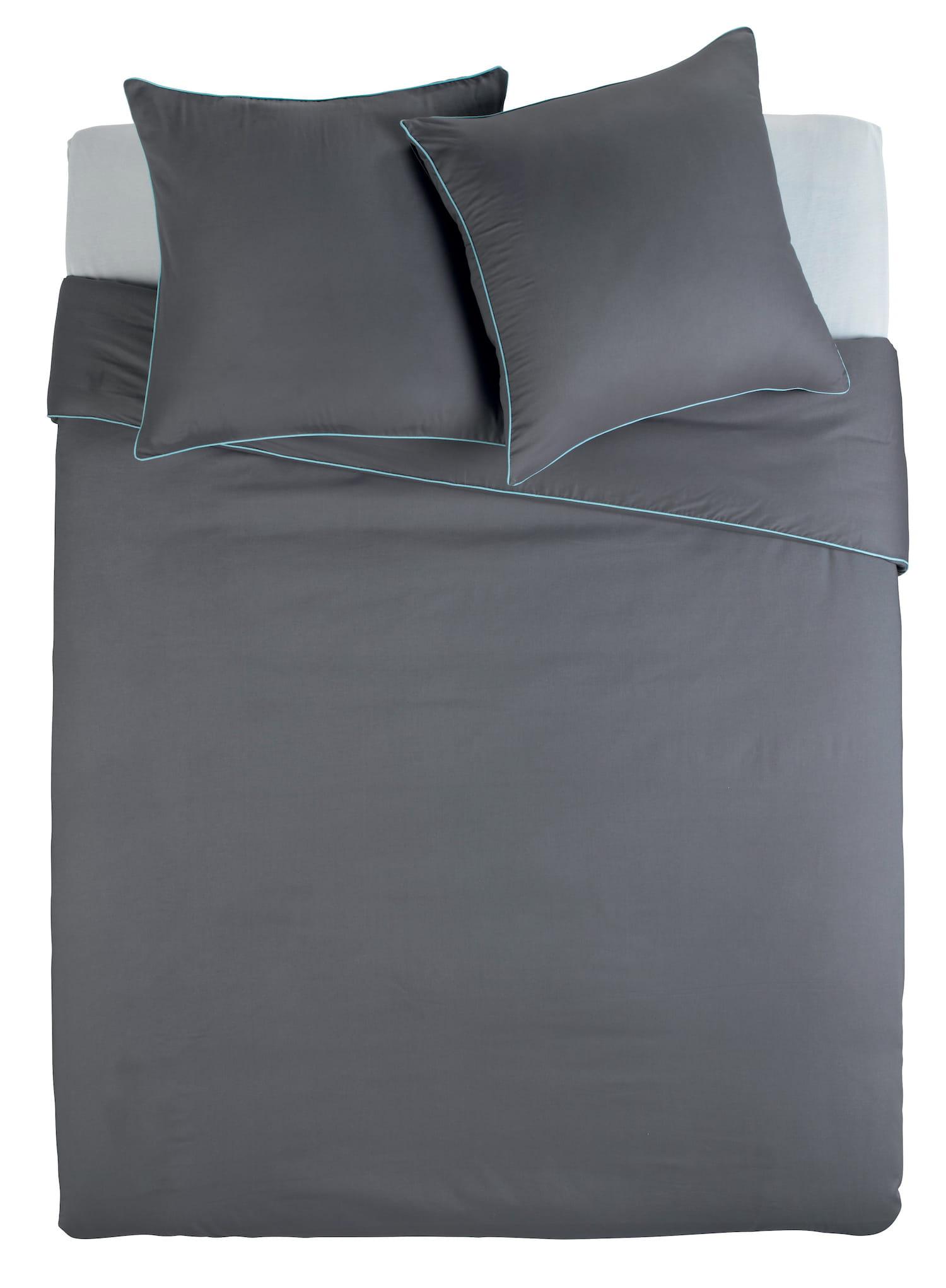 la parure de lit au d tail fluo. Black Bedroom Furniture Sets. Home Design Ideas