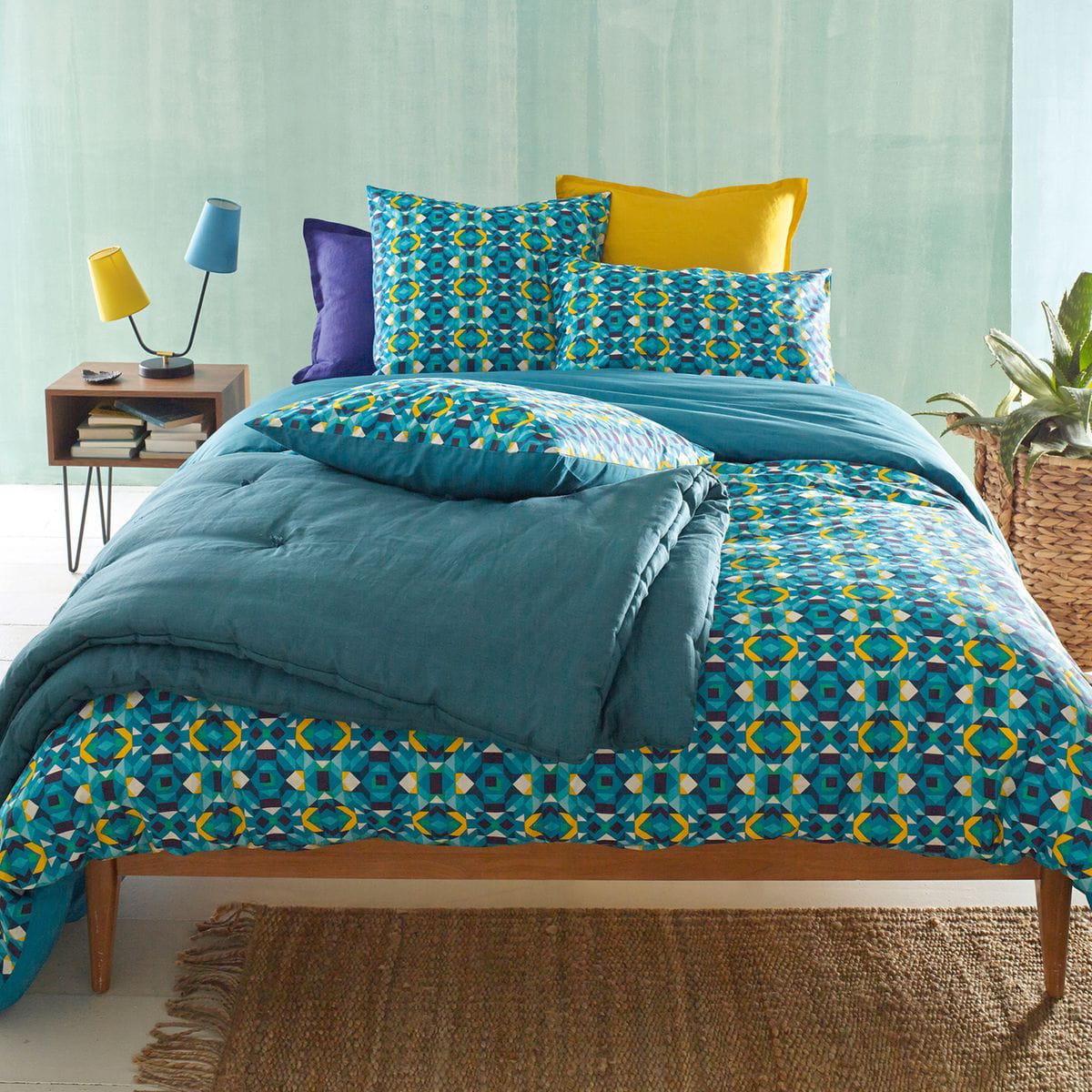 La parure de lit tropicale for Housse couette imprimee