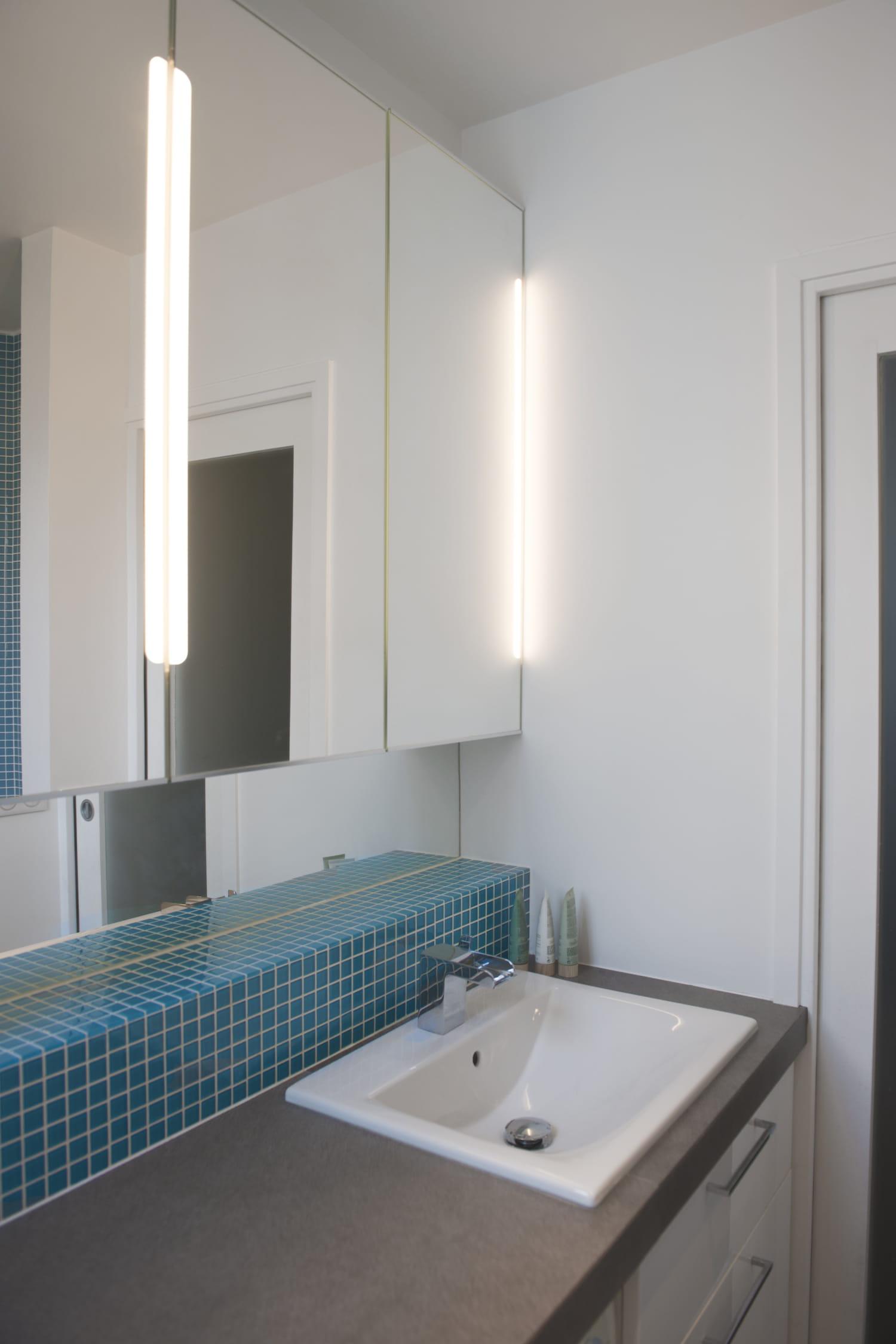 Lavabo Coin : Un coin lavabo lumineux m² et bourré d