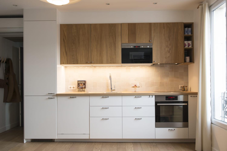 Cuisine Moderne Vert Anis : Une cuisine IKEA déco et fonctionnelle  Un 34 m² lumineux et
