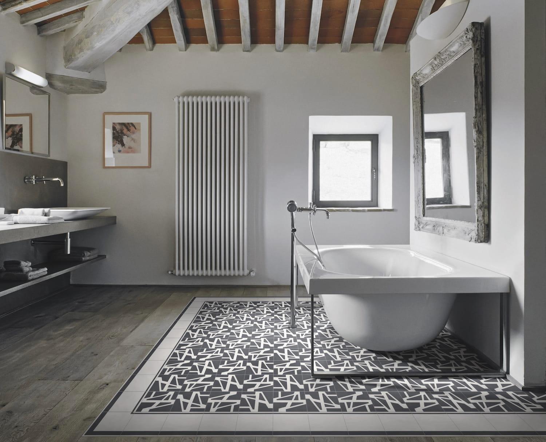 Le mix bois et carreaux de ciment quel sol pour la salle - Quel sol pour une salle de bain ...