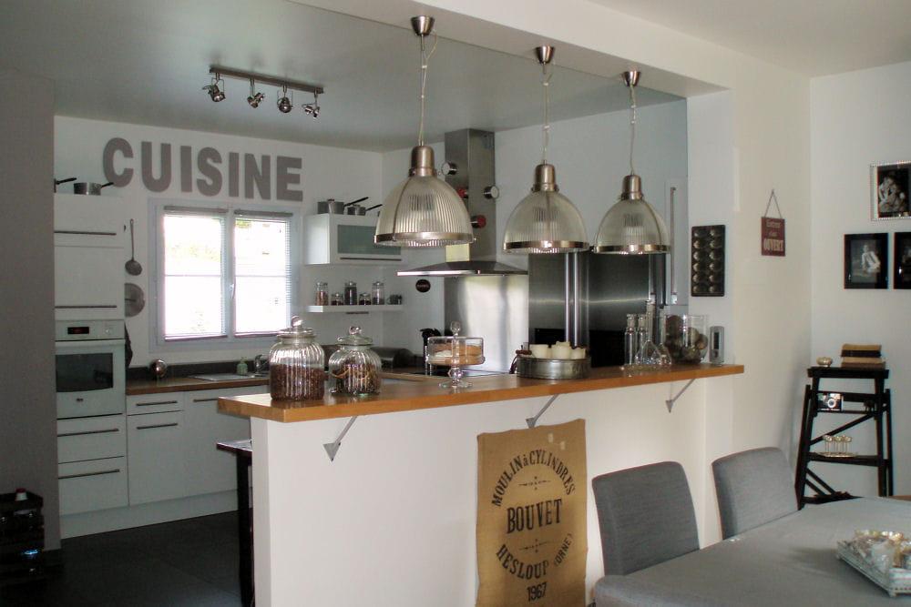 Davausnet Idee Deco Cuisine Avec Bar Avec Des Idées - Cuisine avec verriere et bar pour idees de deco de cuisine
