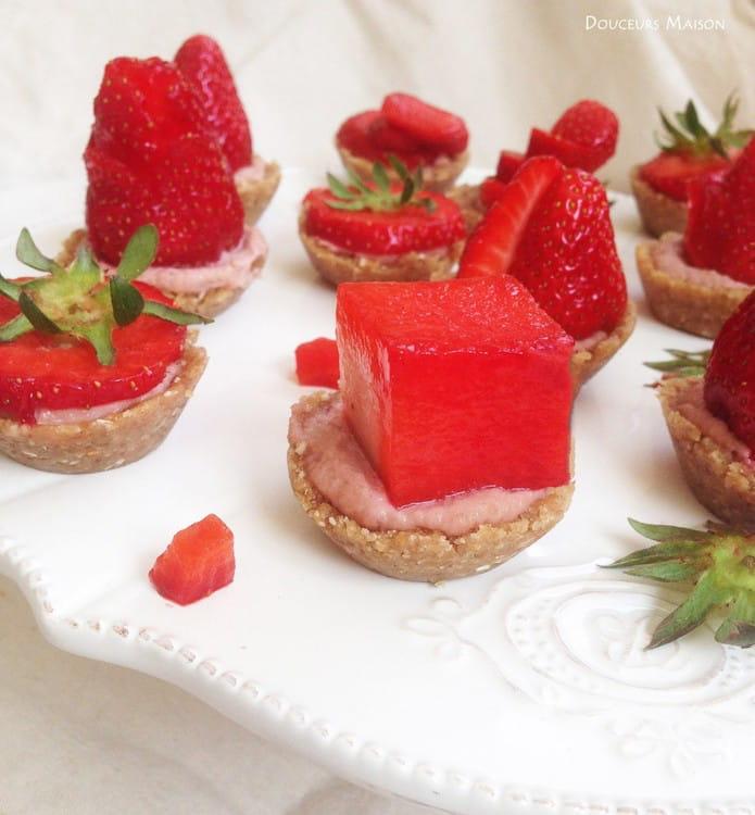 tartelettes aux fraises v g tales et sans cuisson 20. Black Bedroom Furniture Sets. Home Design Ideas