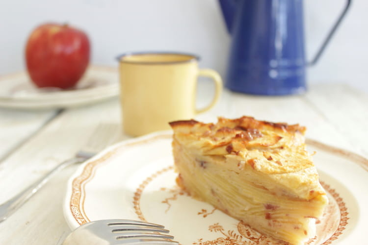 Gateau invisible aux pommes sans sucre ni beurre - Gateau ananas sans beurre ...