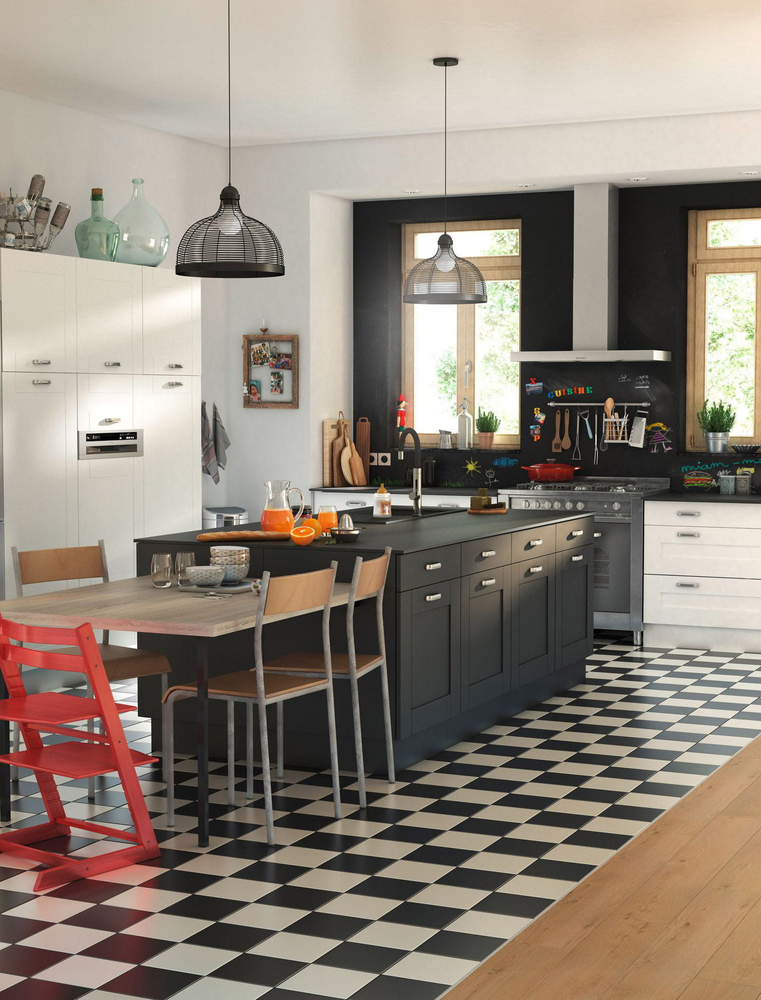 Les erreurs viter avec une cuisine ouverte - Modele de cuisine castorama ...
