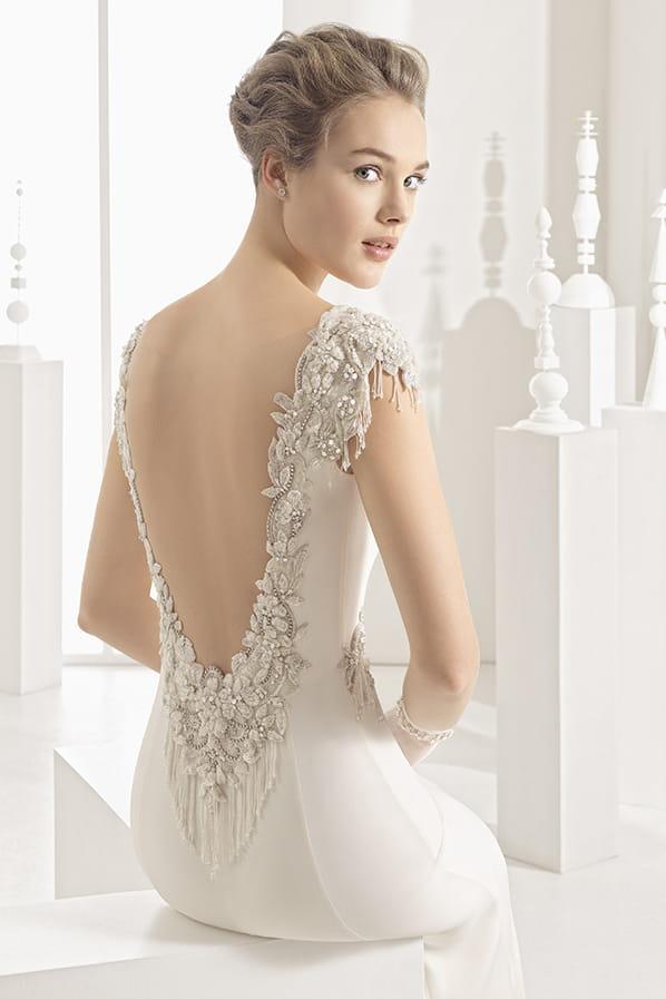 Robe de mariée Naipe, Rosa Clara : Osez le dos nu pour votre mariage ...