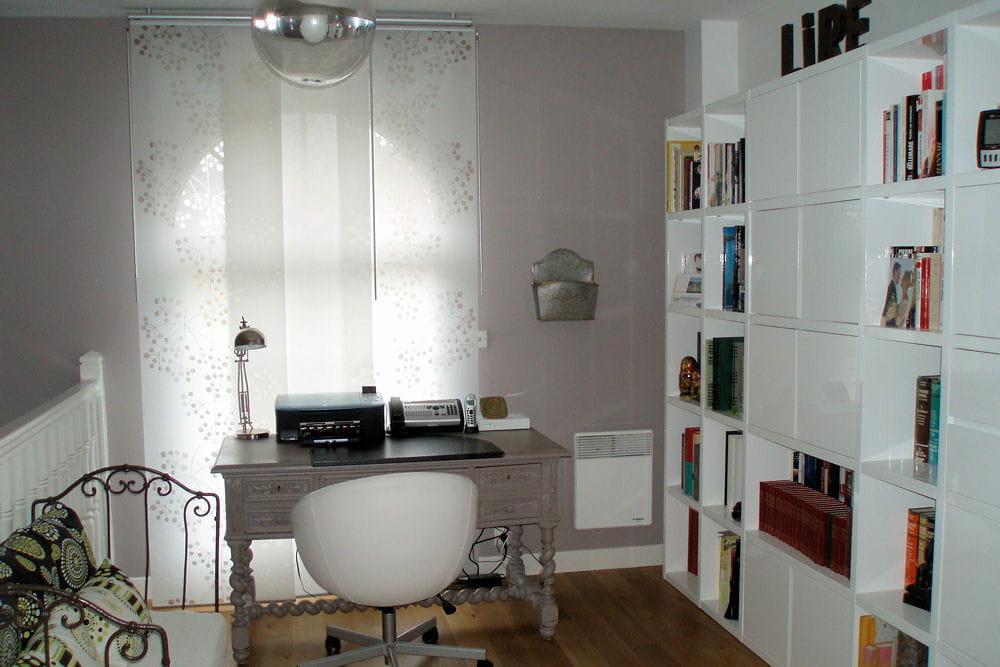 un palier bureau biblioth que visitez la maison de florence journal des femmes. Black Bedroom Furniture Sets. Home Design Ideas