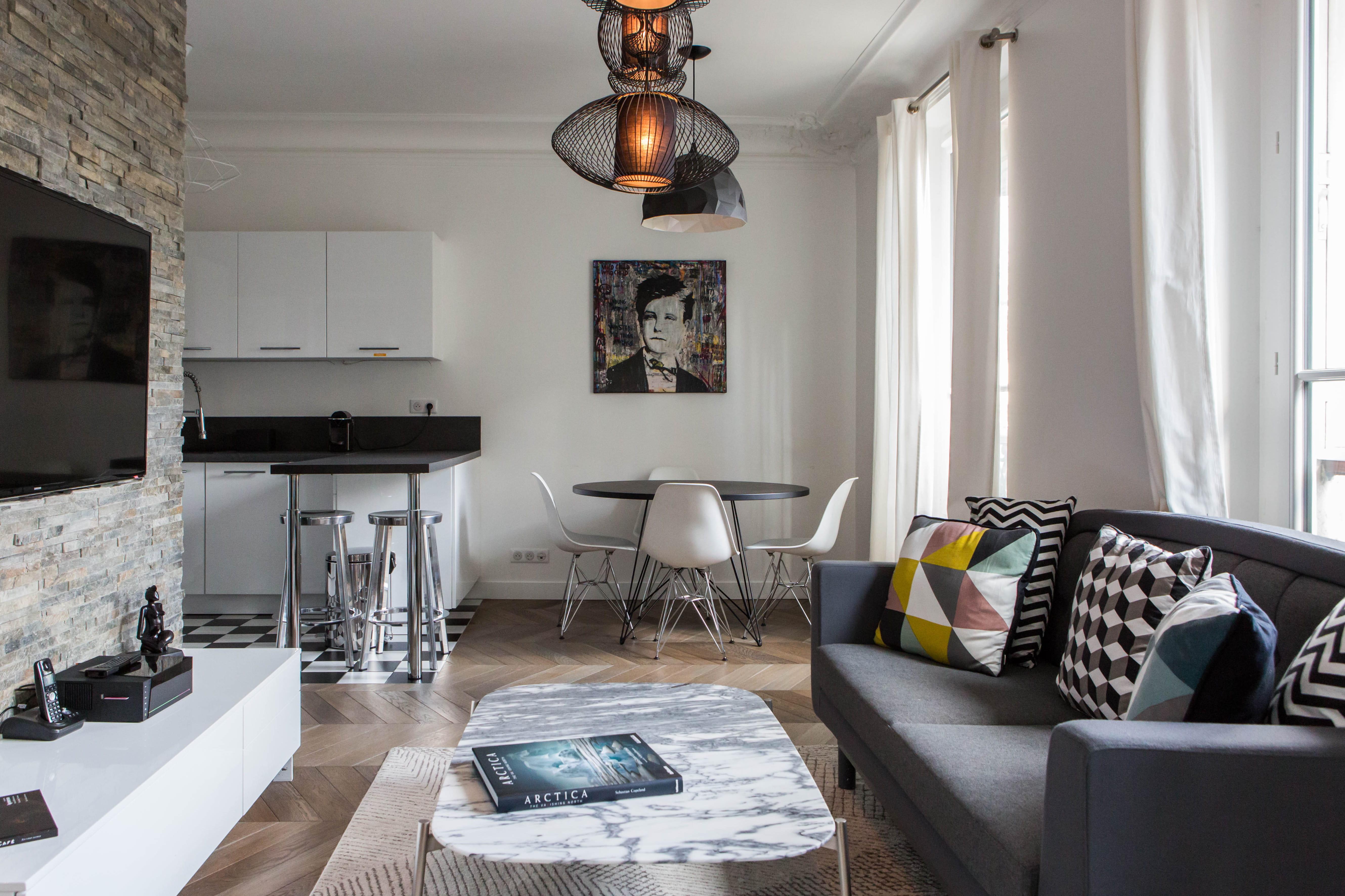 Idee deco salon salle a manger cuisine - Petit salon salle a manger ...