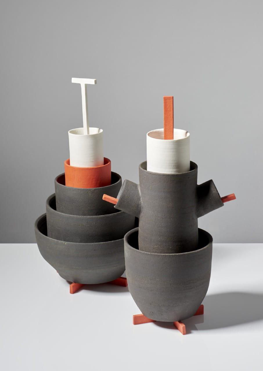 porcelaine gr s bois par samuel accoceberry et kristiane hink biennale de vallauris la. Black Bedroom Furniture Sets. Home Design Ideas