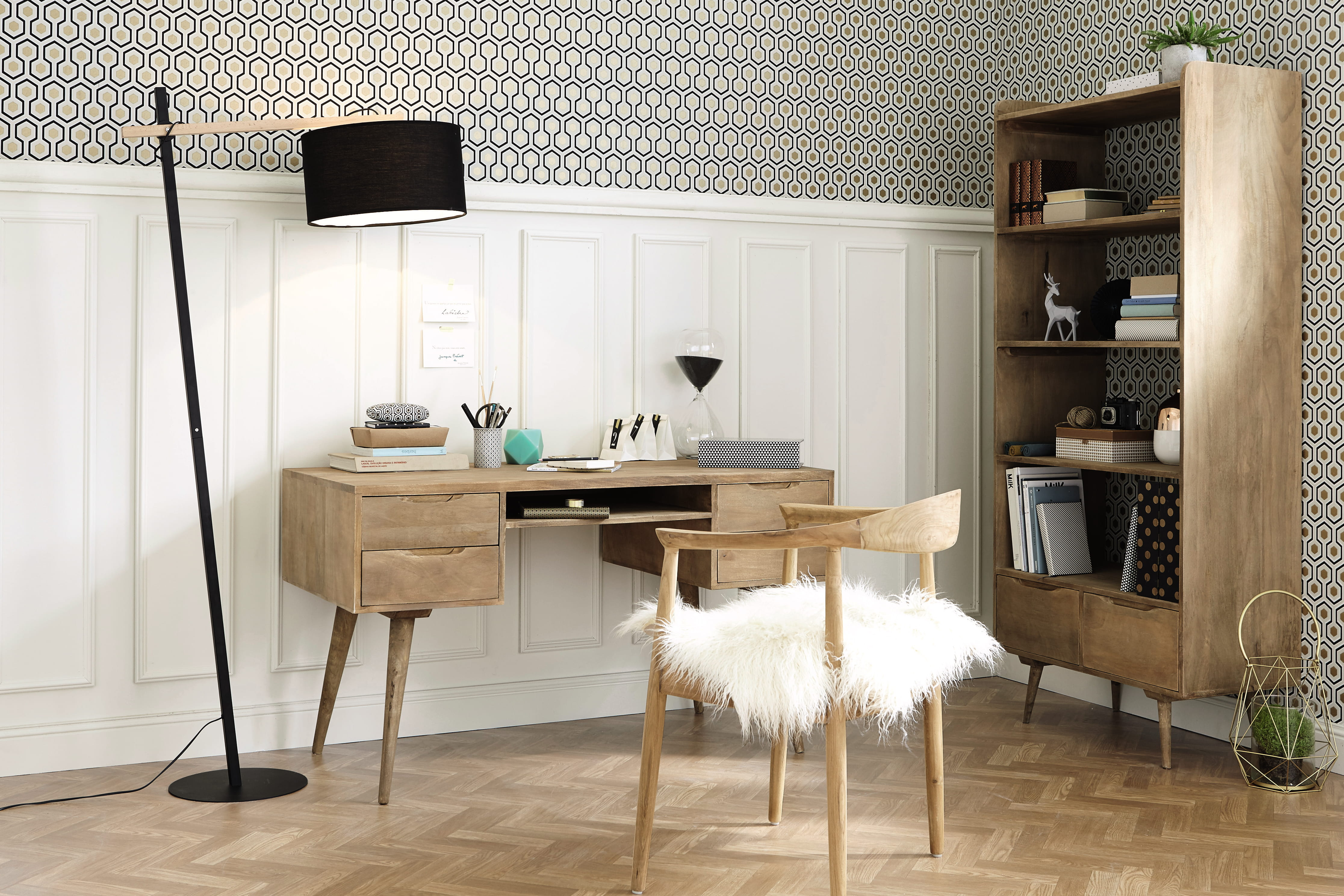 Bureau trocadero par maisons du monde 13 bureaux pour une d co scandinave e - Chaise de bureau maison du monde ...