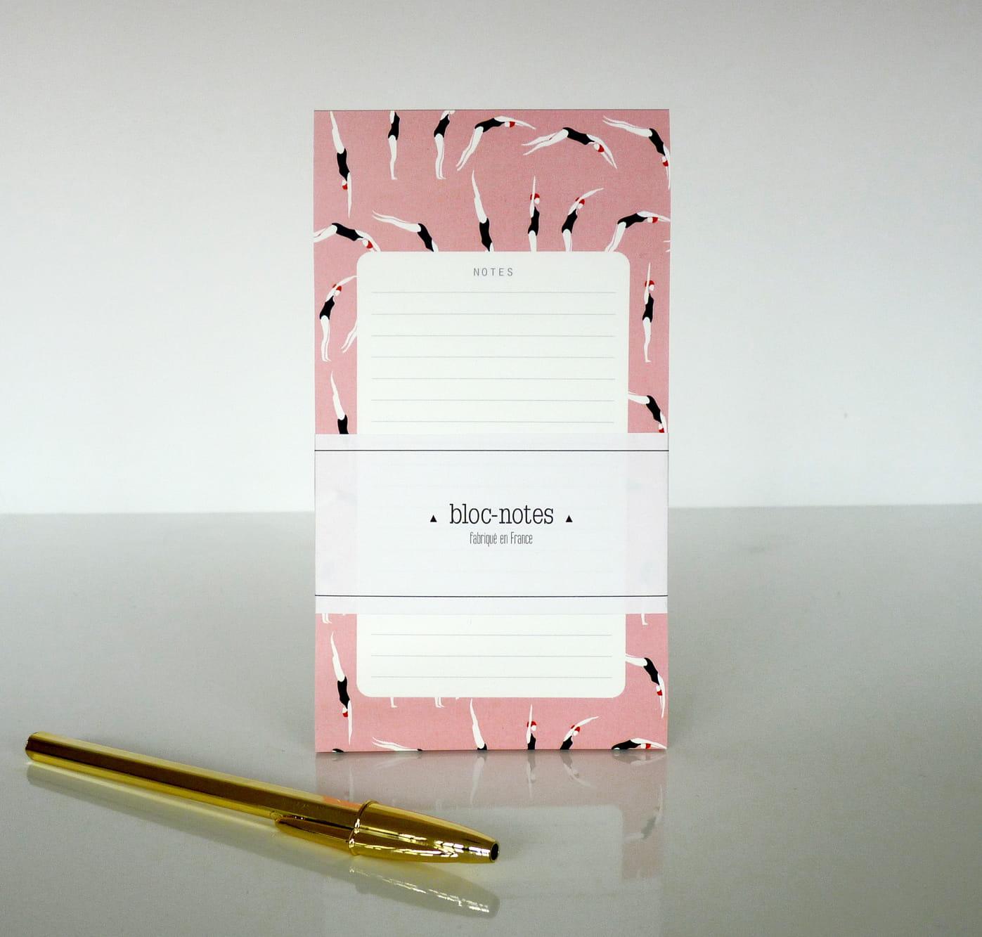 bloc notes plongeuses par season paper bureau de nouveaux accessoires pour une rentr e bien. Black Bedroom Furniture Sets. Home Design Ideas