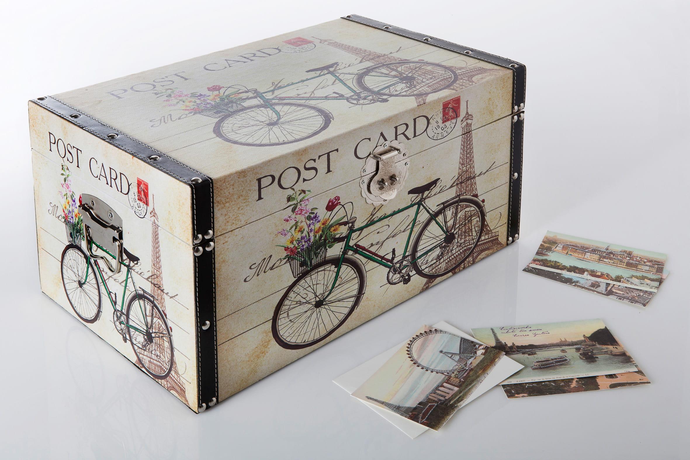 Coffre cartes postales par becquet jolies bo tes les alli es d co du rang - Rangement cartes postales ...
