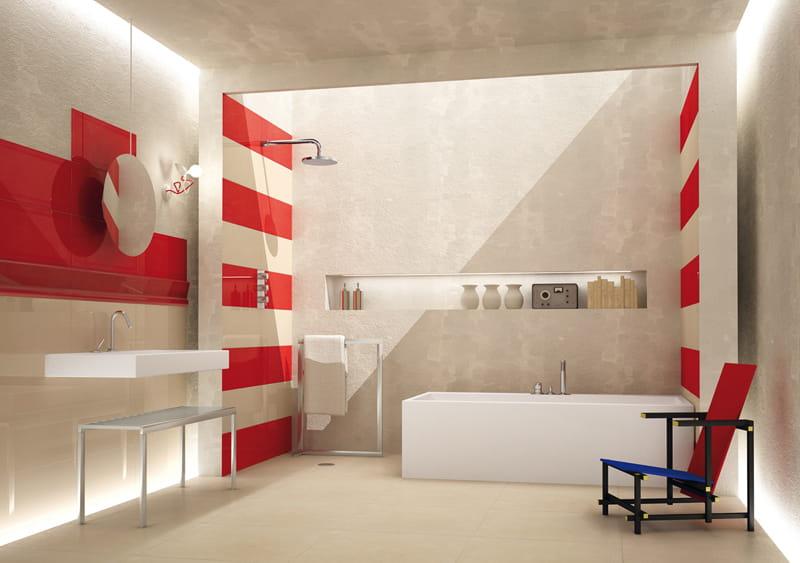 carrelage salle de bain rouge et gris excellent carrelage gris quelle couleur pour les murs. Black Bedroom Furniture Sets. Home Design Ideas