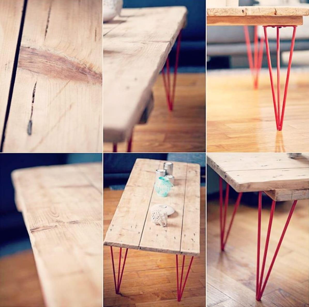 Fabriquer sa table avec des pieds personnalisables - Table basse qui se transforme en table haute ...