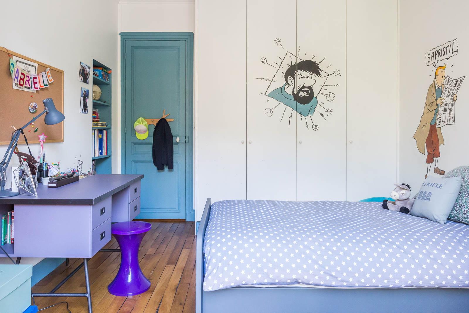 chambre tintin. Black Bedroom Furniture Sets. Home Design Ideas