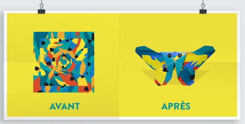 cultura lance un papier cadeau qui devient origami. Black Bedroom Furniture Sets. Home Design Ideas