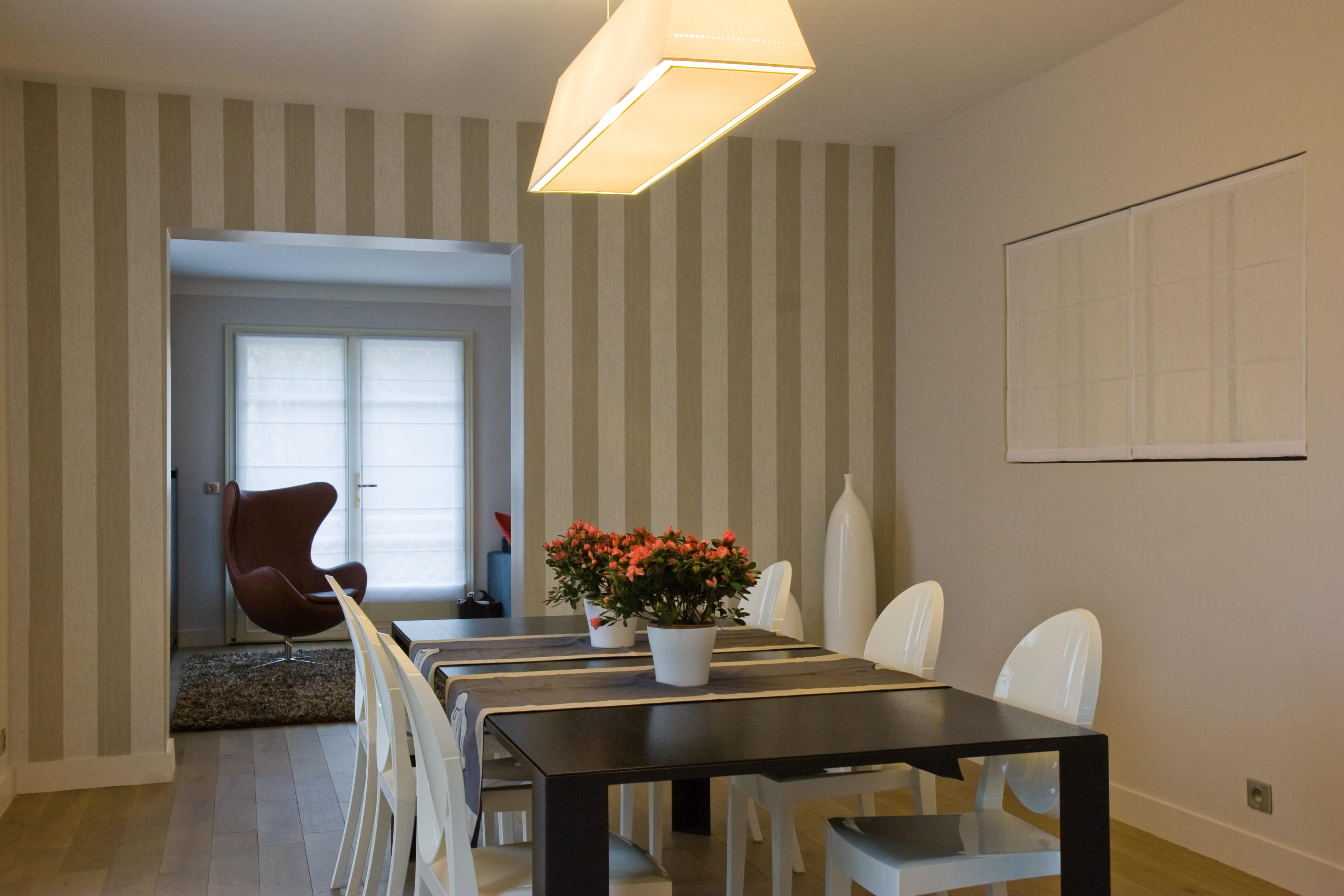 bien placer les rayures dans sa d co. Black Bedroom Furniture Sets. Home Design Ideas