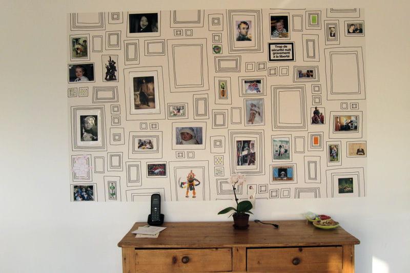 L 39 imprim cadres photos 10 id es d co sp cial papier peint journal de - Journal des femmes deco ...