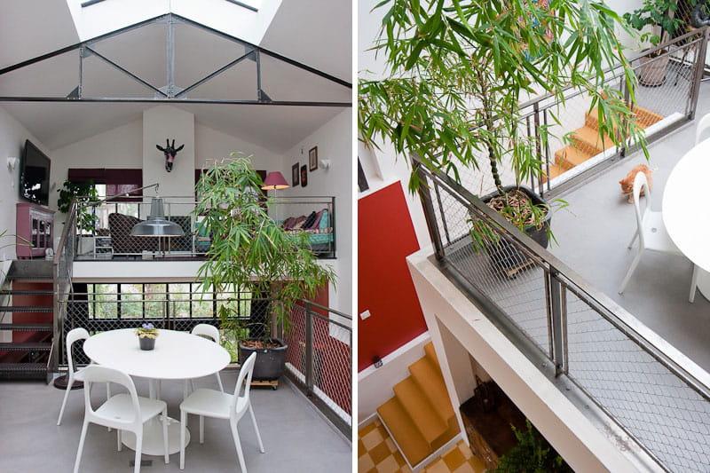 Des cloisons transparentes une maison loft qui s 39 ouvre for Porte qui s ouvre vers l exterieur