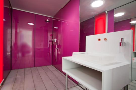 Rose gourmand douche l 39 italienne une pluie de bonnes for Mur de douche acrylique