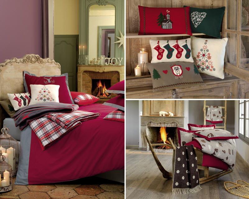 linge de lit linvosges d co f erique pour un no l de r ve journal des femmes. Black Bedroom Furniture Sets. Home Design Ideas