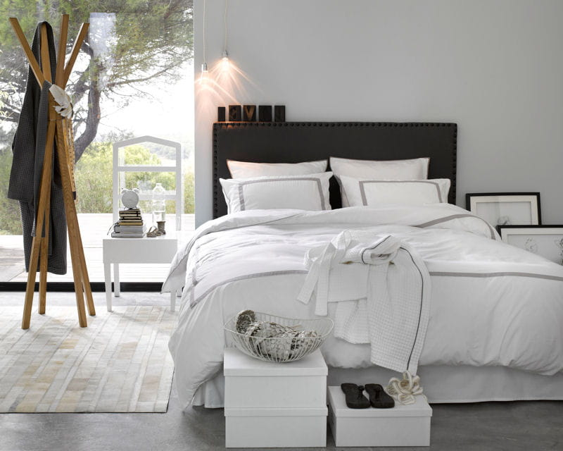 linge de lit otel de la redoute du linge blanc clatant pour ma chambre journal des femmes. Black Bedroom Furniture Sets. Home Design Ideas