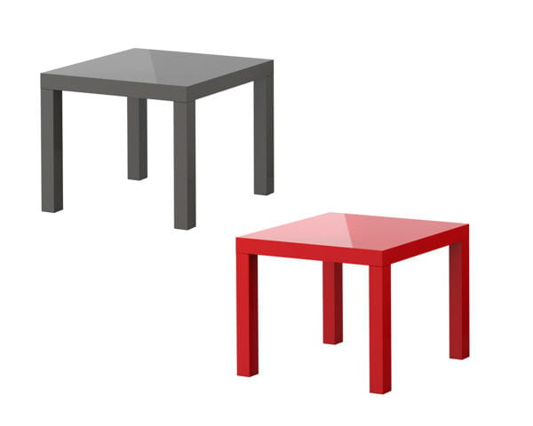 Tables d 39 appoint lack d 39 ikea for Table de salon carre