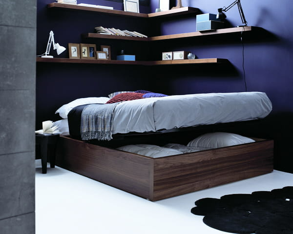 lit avec coffre int gr de boconcept. Black Bedroom Furniture Sets. Home Design Ideas