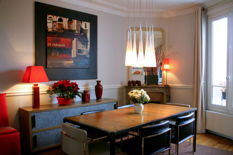 Une salle manger design d co ethnique chic dans un for Decoration d interieur d appartement