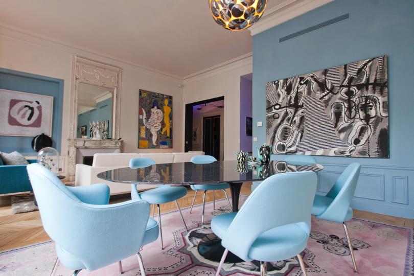 Chambre Fille Vert Et Mauve : Duo de bleu et de blanc  Déco bleue  il flotte comme un petit air