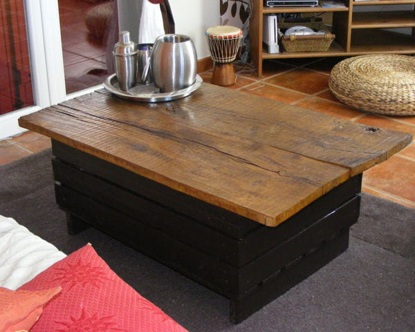 Pin Table Basse En Caisses En Bois Avec Bar on Pinterest ~ Table Basse En Caisse En Bois