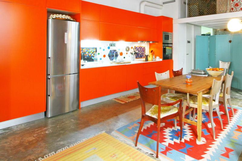 Idee Salle De Bain Meuble Bois : Cuisine ethnique  La couleur déco du mois  lorange  Journal des