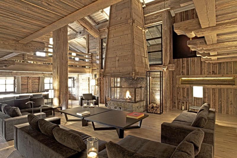 Grandeur bois ambiance conviviale au chalet journal des femmes for Deco interieur chalet bois