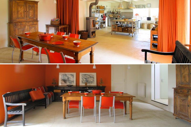 Salle manger la couleur d co du mois l 39 orange for Rideau salon salle a manger