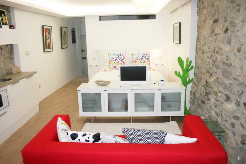 Un petit espace bien optimis un studio moderne et for Decorer appartement etudiant