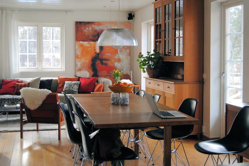 Un espace repas chaleureux et convivial d co n o folk for Table a manger suedoise