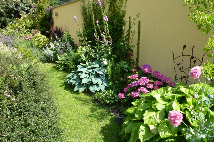 le long du mur visitez le jardin de camille journal des femmes. Black Bedroom Furniture Sets. Home Design Ideas