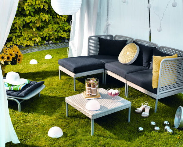 salon de jardin enholmen d 39 ikea du mobilier d co pour un jardin printanier journal des femmes. Black Bedroom Furniture Sets. Home Design Ideas