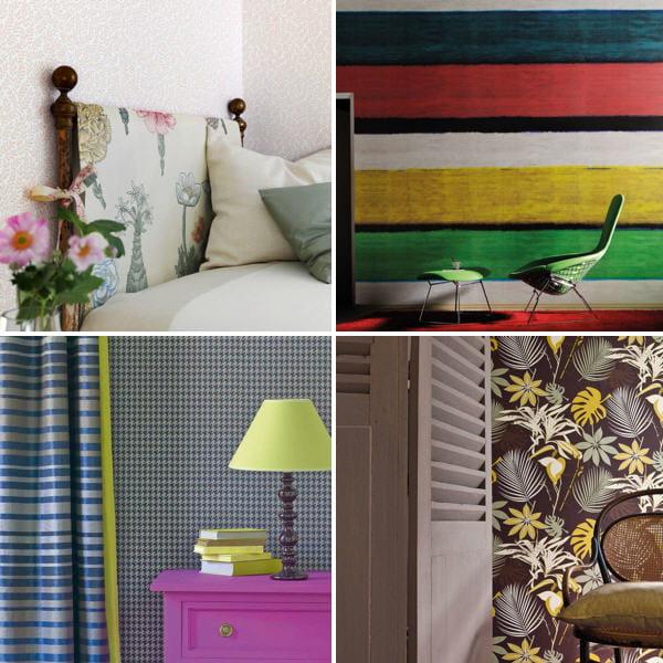 les nouveaux papiers peints tendance journal des femmes. Black Bedroom Furniture Sets. Home Design Ideas