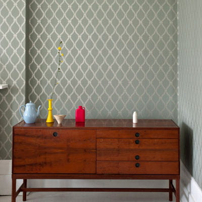 Papier peint crivelli trellis de farrow ball les - Farrow and ball papier peint ...