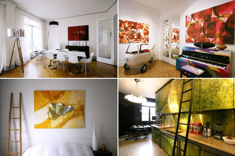 entrez dans l 39 appart cr atif d 39 une artiste journal des femmes. Black Bedroom Furniture Sets. Home Design Ideas