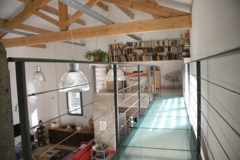La passerelle et le bureau en mezzanine visitez la maison de sylvie journ - Deco mezzanine maison ...