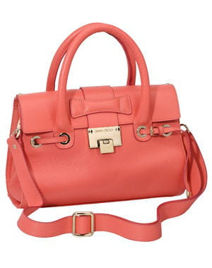sac 'rosalie s' corail de jimmy choo