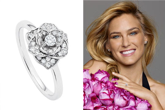 Bar Refaeli, une rose parmi les roses chez Piaget