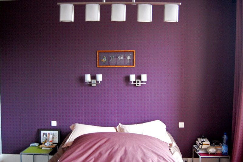 Chambre coucher violet stunning with chambre coucher violet fabulous chambre a coucher gris et - Chambre a coucher mauve et gris ...