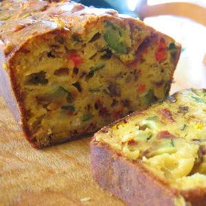 Cake au cantal et aux l gumes du soleil 65 recettes de - Recette cake sale vegetarien ...